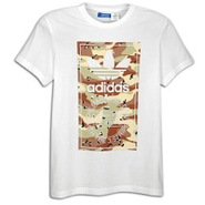 Camo Label Short Sleeve T-Shirt - Mens - White