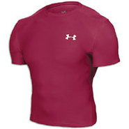 HeatGear Compression S/S T-Shirt - Mens - Crimson/
