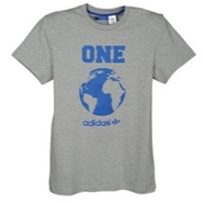 World Globe S/S T-Shirt - Mens - Medium Grey Heath