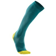 Performance Compression Run Sock - Womens - Peacoc