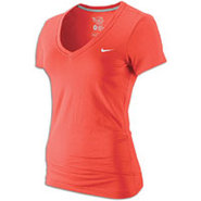 Classic Swoosh V-Neck S/S T-Shirt - Womens - Sunbu