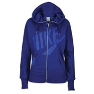Light Weight Full Zip Hoodie - Womens - Dark Royal