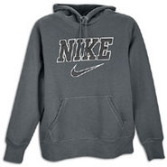 Classic Fleece Emblem Swoosh Hoodie - Mens - Anthr