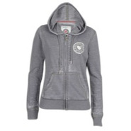 Burnout Full Zip Hoodie - Womens - Grey