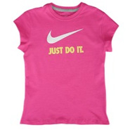 JDI Swoosh S/S T-Shirt - Girls Grade School - Fusi