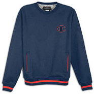 1919 Raglan 2 Tone Fleece Crew - Mens - Navy