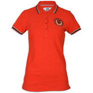 Crested Polo - Womens - Red