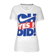 Oh Yes I Did Short Sleeve T-Shirt - Womens - White