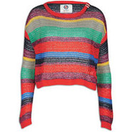 Multi Stripe Sweater - Womens - Red