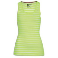 Stripe Racerback Tank - Womens - Acid Green