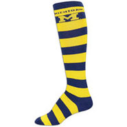 Michigan Wolverines For Bare Feet College Crew Soc