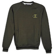 1919 Raglan 2 Tone Fleece Crew - Mens - Military G