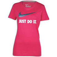 JDI Swoosh Short Sleeve T-Shirt - Womens - Fuchsia