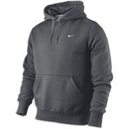 Classic Fleece Swoosh PO Hoodie - Mens - Anthracit