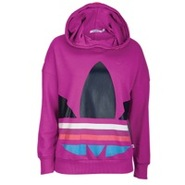 Big Trefoil PO Hoodie - Womens - Vivid Pink/Multic