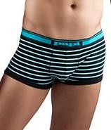 Stretch Cotton Contrast Stripe Brazilian Trunk 2-P