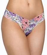 Petite Poppy Print Signature Lace Low Rise Thong P