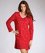 Pop In Red Penguin Henley Nightshirt Sleepwear