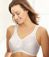 Magic Lift Cotton and Lace Wire-Free Bra