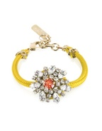 Flower Crystal Lace and Metal Bracelet