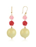 Rose Murano Glass Drop Earrings