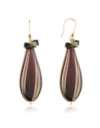 Old Venice - Oval Gold Foil Drop Earrings