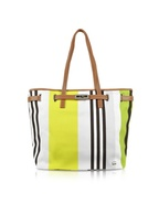Multicolor Canvas Shoulder Tote