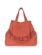 Billy Large Coral Pink Leather Tote