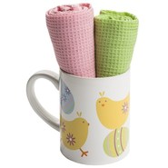DII Spring Mug and Dish Towel Gift Set