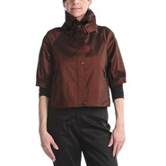 Samuel Dong Stretch Taffeta Crop Jacket (For Women