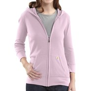 Carhartt Full-Zip Hoodie Sweatshirt - 3/4 Sleeve (