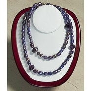 Aluma USA Freshwater Pearl and Amethyst Necklace -