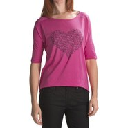 Hurley Love Struck T-Shirt - Cotton Jersey, 3/4 Sl