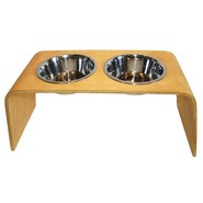 Bergan Elevated Wooden Pet Feeder - 1.5L