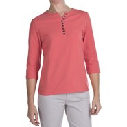 FDJ French Dressing Henley T-Shirt - 3/4 Sleeve, C