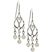 Stanley Creations 10K White Gold Chandelier Earrin