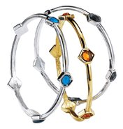 Color Accented Bangle Bracelet