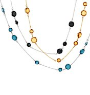 Color Accented Chain Necklace