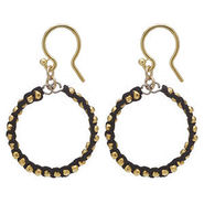 Earrings, Black, Black, 1 ea