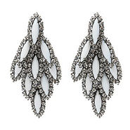 Bacall Earrings, White, Crystal, 1 ea