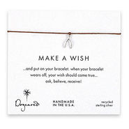 Make A Wish Bracelet Teeny Wishbone, Silver/Toboac