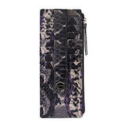 Venom Credit Card Case With Zipper Pocket, Smoke,