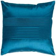 Center Pleated 18  Square Teal Throw Pillow (V2955