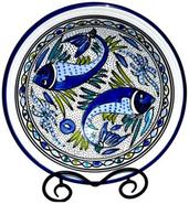 Le Souk Ceramique Aqua Fish Design Small Serving B