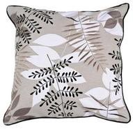Taupe Branches 18  Square Accent Pillow (R6636)