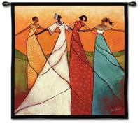 Bonds of Women 53  Square Wall Tapestry (J8957)
