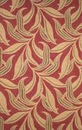 Painted Leaves Red 1' 11 x2' 11  Area Rug (F7605)