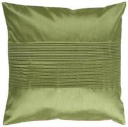 Center Pleated 18  Avocado Green Throw Pillow (V29