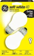 40 Watt White 2-Pack Ceiling Fan Bulbs (91853)