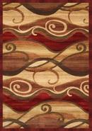 Waves Cinnabar 8&#39; x 10&#39; Area Rug (65693)